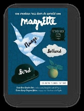 Magritte-activity-book-voor-kinderen---nuage,-bolhoed,-bird