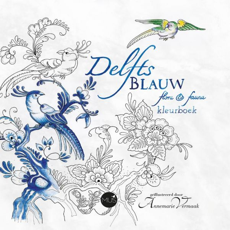 Delfts-Blauw-flora-&-fauna-kleurboek