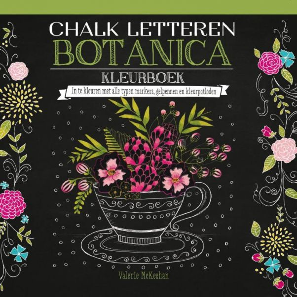 Chalk-letteren-Botanica-kleurboek
